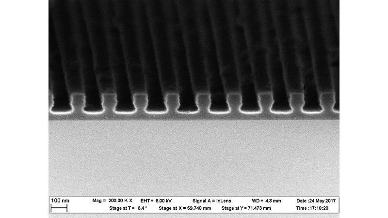 Fabrication of sub-µm-patterns by Deep UV lithography using ma-N 2400