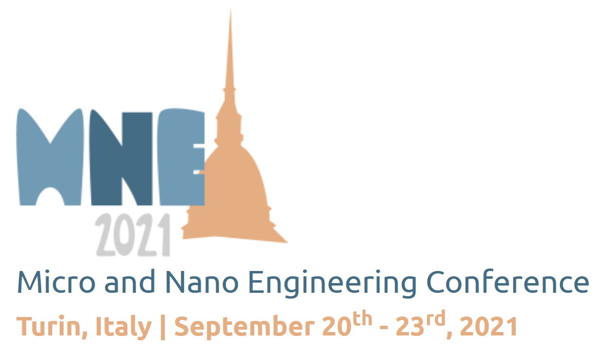 MNE Micro and Nano Engineering Conference – Turin, Italy – September 20th – 23rd, 2021